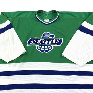Vintage 80s CCM Seattle Thunderbirds Hockey Jersey
